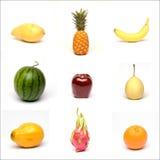 Verschiedene Arten der Früchte Stockfoto