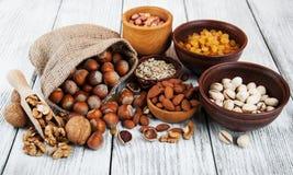 Verschiedene Arten der Nüsse Stockfotografie