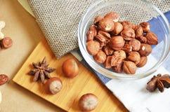 Verschiedene Arten der Nüsse Lizenzfreies Stockfoto