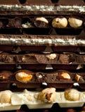 Verschiedene Arten der Schokolade Lizenzfreie Stockbilder
