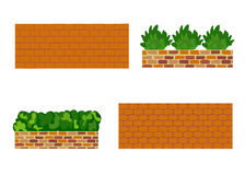 Verschiedene Arten der Steinwand für Garten Lizenzfreies Stockfoto