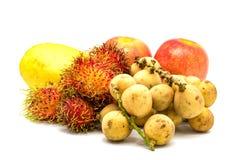 Verschiedene Arten der tropischen Frucht Stockbild