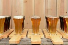 verschiedene Arten des Bieres Lizenzfreie Stockfotografie