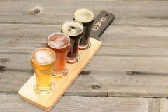 verschiedene Arten des Bieres Stockfotografie