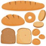 Verschiedene Arten des Brotes Stockbild
