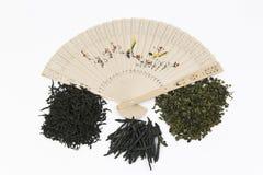 Verschiedene Arten des chinesischen Tees stockbilder