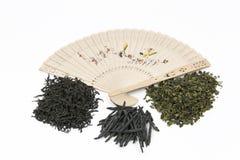 Verschiedene Arten des chinesischen Tees stockfoto