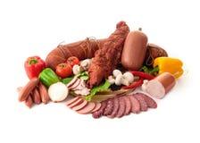 Verschiedene Arten des Fleisches Stockbild