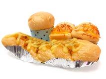 Verschiedene Arten des frischen Brotes Stockfotos