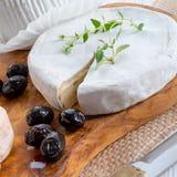 Verschiedene Arten des Käses auf einem hölzernen Hintergrund Lizenzfreie Stockbilder