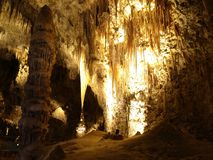 Verschiedene Arten des Kalksteins im Karlsbad-Höhlen-Nationalpark Lizenzfreie Stockfotos