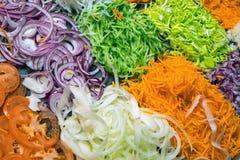 Verschiedene Arten des Salats Stockbild