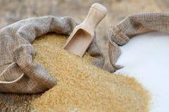 Verschiedene Arten des Zuckers Lizenzfreies Stockbild
