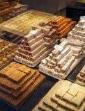 Verschiedene Arten von östlichen türkischen Bonbons im Shop Stockbilder