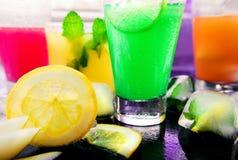 Verschiedene Arten von frischen Limonaden Lizenzfreies Stockbild