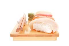 Verschiedene Arten von Nigiri-Sushi Stockbild