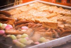 Verschiedene Arten von oden kochende heiße Suppe Lizenzfreies Stockfoto