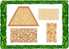 Verschiedene Arten von Pflastersteinen Stockfoto