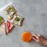Verschiedene Arten von Sandwichen Stockfotografie