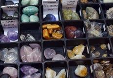 Verschiedene Arten von Steinen und von Mineralien Stockbild