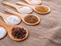 Verschiedene Arten von Zucker I Stockfotos