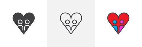 Verschiedene Artikonen der Liebe Stockbild