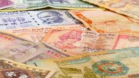 Verschiedene asiatische Währungsbanknoten, Hintergrund stockfoto