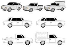 Verschiedene Autoänderungen lizenzfreie abbildung