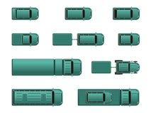 Verschiedene Automobile der Draufsicht Stockbilder