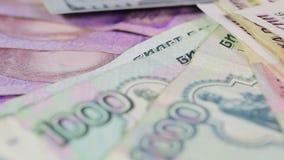 Verschiedene Banknoten stock video footage