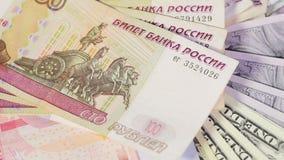 Verschiedene Banknoten stock video