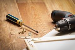 Verschiedene Bauschlosserwerkzeuge lizenzfreies stockbild