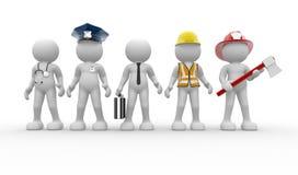 Verschiedene Berufe Lizenzfreies Stockbild