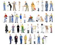 Verschiedene Berufe eingestellt Stockbild
