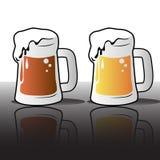 Verschiedene Biere Stockbild