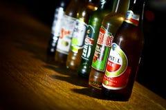 Verschiedene Biere Stockfoto