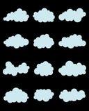 Verschiedene blaue Wolken Lizenzfreies Stockfoto