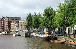 Boote in Amsterdam Lizenzfreie Stockfotos