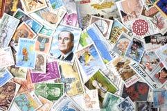 Verschiedene Briefmarken Stockbilder