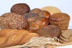 Verschiedene Brote Stockbild