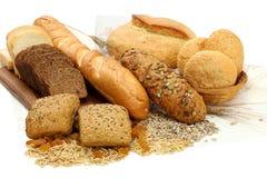 Verschiedene Brotprodukte Stockfotos