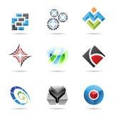Verschiedene bunte abstrakte Ikonen, Set 13 Stockfotografie