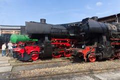 Verschiedene Dampflokomotive Stockfotos
