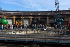 Verschiedene Dampflokomotive Stockfotografie
