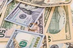 Verschiedene Dollarscheine Stockbild