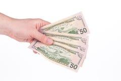 Verschiedene Dollarscheine Stockfotos