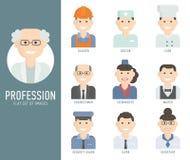 Verschiedene eingestellte Ebene der Leuteberufe Charaktere Lizenzfreies Stockfoto