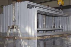 Verschiedene Elemente von Stahlkonstruktionen für weitere Versammlung Lizenzfreies Stockfoto