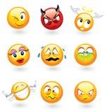 Verschiedene Emoticons Lizenzfreie Stockfotos