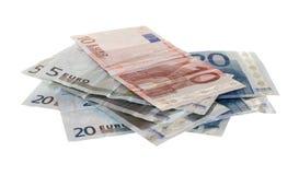 Verschiedene Eurorechnungen Stockfotografie